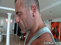 Hunky Buddy Getting Oiled Up And Queer Rubbed 2 By GotRub