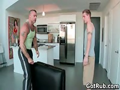 Exciting Guy Get His Horny Torso Rubbed And Sausage Sucked Off 9 By GotRub