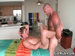 Hot Bro Getting Oiled Up And Prepped For Homo Rubbing 5 By GotRub