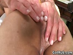 Lucky Buddy Getting His Stiff Dick Queer Rubbed Four By GotRub