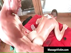 Calvin Gets His Hard Cock Rubbed Hard During Massage 9 By MassageVictim