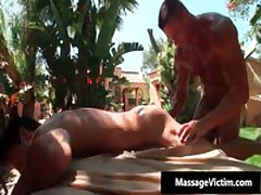 Hot Buffed Dude Gets Oiled Up For Gay Massage 8 By MassageVictim