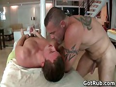 Hunky Buddy Getting Oiled Up And Homosexual Rubbed 10 By GotRub