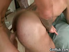 Beefy God With Tattoos Making Out His Rubbing Professional 6 By GotRub