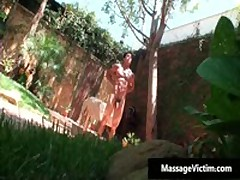 Hot Buffed Dude Gets Oiled Up For Gay Massage 2 By MassageVictim