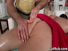 Guy Getting His Tight Little Pretty Butthole Massaged 2 By GotRub