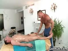 Rubbing Expert Getting His Tattooed Pooper Banged By Client 2 By GotRub