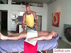 Blonde Gets His Balls Oiled For Rubbing By Gotrub