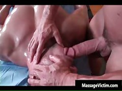 Super Hot Bodied Guy Gets Oiled For Gay Massage 5 By MassageVictim