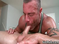 Hot Babe Buddy Get His Exciting Torso Rubbed And Erection Sucked Off 6 By GotRub