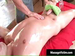 Calvin Gets His Hard Cock Rubbed Hard During Massage 5 By MassageVictim