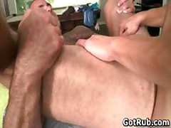 Lucky Dude Gets His Stiff Jizzster Gay Massaged 6 By GotRub