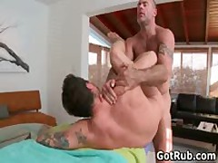 Tattooed Hunk Gets His Smooth Ass Rimmed 6 By GotRub