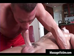 Super Hot Bodied Guy Gets Oiled For Gay Massage 4 By MassageVictim