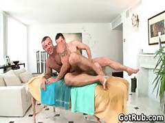 Massage Pro Gets His Tattooed Anus Fucked By Client 5 By GotRub