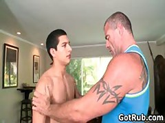 Lucky Dude Gets His Stiff Jizzster Gay Massaged 2 By GotRub