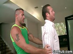 Muscled Hunk With Tattoos Fucking His Massage Pro 1 By GotRub