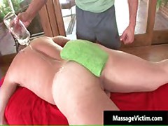 Calvin Gets His Hard Cock Rubbed Hard During Massage 3 By MassageVictim