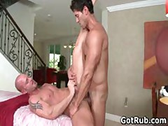 Muscled Guy Gets His Fine Tatooed Ass Fucked 6 By GotRub