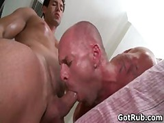 Muscled Guy Gets His Fine Tatooed Ass Fucked 4 By GotRub
