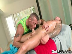 Muscled Hunk With Tattoos Fucking His Massage Pro 3 By GotRub