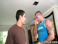 Lucky Dude Gets His Stiff Jizzster Gay Massaged 1 By GotRub