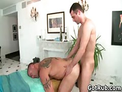 Massage Pro Gets His Tattooed Anus Fucked By Client 4 By GotRub