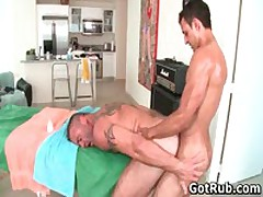 Massage Pro Gets His Fine Ass Fucked By Muscled Dude 5 By GotRub
