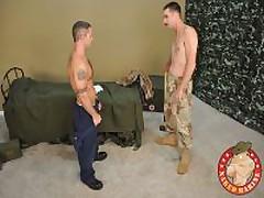 Army Stud Gets Plowed