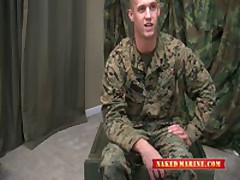 Hot Marine Seargent Shows Off His...