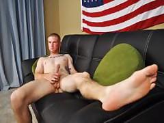 Corporal Mack Shoots A Big Puddle Of Cum
