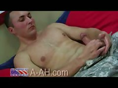 Army Lt. Jacking His Cock