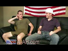 Marine Recruit Gets His First Gay Blowjob