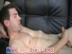 Marine Jacking His Huge Cock