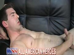 Marine Jacking His Huge Cock
