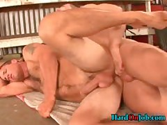 Hunky Stud Gets His Hard Fat Cock Sucked At Work 3 By HardOnJob