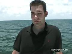 Frat Guy Jerking Huge Cock On Boat