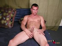 Hunky Muscle Stud Playing With