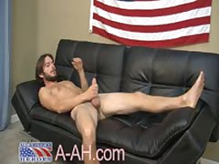 Hairy Muscle Stud Stroking