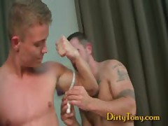 Muscle Stud Pounds Blond Cute