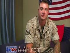Beefy Tattooed Military Stud