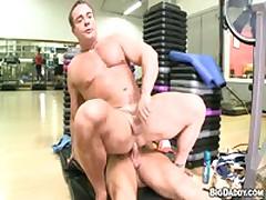 Two Hot Gym Guys Fuck Hard