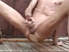 Outdoors Fucking A Huge Butt Plug