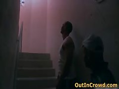 Beefed Homosexual Sucked Off And Making Out On The Stairs 1 By OutInCrowd
