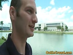 Good Looking Twinky Enjoys Public Place Gay Porno On The Grass 1 By OutInCrowd