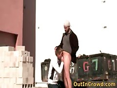 Pretty Twinkie Blows And Getting Making Out In Public Place 5 By OutInCrowd