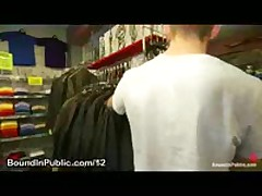 Gay Gets Bound In Clothing Shop By Shop Patrons
