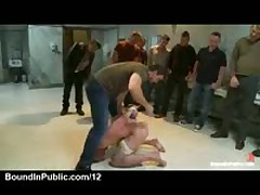 Wrestler Gagged With Dicks In Public Rest Room