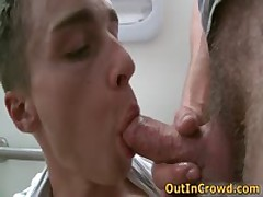 Horny Twinks Having Gay Sucking And Fucking On The Public Toilet 9 By OutInCrowd