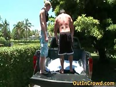 David And Goliath Gays Sucking Cock In Back Of Truck 4 By OutInCrowd